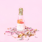 Champagne Sparkling Bottle Gummy Rose Brut Flavored Party Favors Cheers Non-Alcoholic Bachelorette Bridal Party Showers