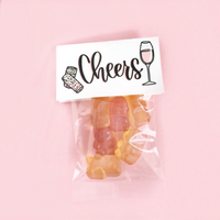 Champagne Sparkling Gummy Rose Brut Flavored Party Favors Cheers Non-Alcoholic Bachelorette Bridal Party Showers Rosè All Day