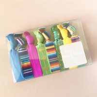 Everyday Fiesta Hair Tie Set of 8 Hair Accessories Knotted Ties Yoga Bands
