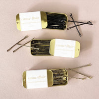 Mini Gold Tin Bobby Pins Extra Strength - Black