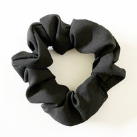 Everyday Black Silky Hair Scrunchie Tie
