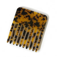 Tortoise Print Pocket Comb for Wet and Dry Styling Travel Size Favor