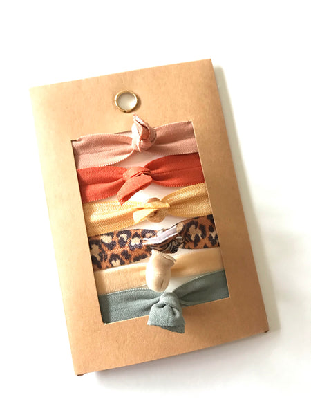 Everyday Basics - Knotted Hair Tie Set of 6