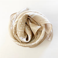 Silky Satin Hair Scarf in Taupe
