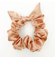 Everyday Rosè Satin Hair Scrunchie Tie with Bow