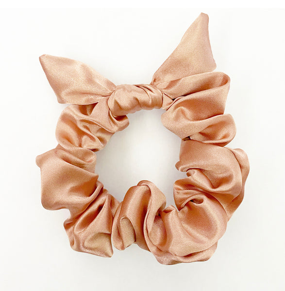 Everyday Rosè Satin Hair Scrunchie Tie with Bow Holiday