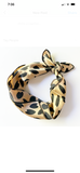Satin Square Hair Scarf in Cheetah Chic