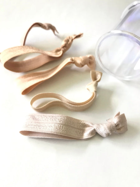 Bombshell Hair Tie Set in Clear Storage Container