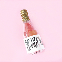 Champagne Bottle Gummy Bears Rose Brut Flavored Party Favors Cheers Non-Alcoholic Bachelorette Bridal Party Showers Pop Fizz Clink