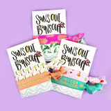 2 Hair Ties on Suns Out Buns Out Tropical Card Party Favors