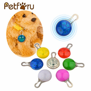 Pet LED glowing pendant necklace for Safety