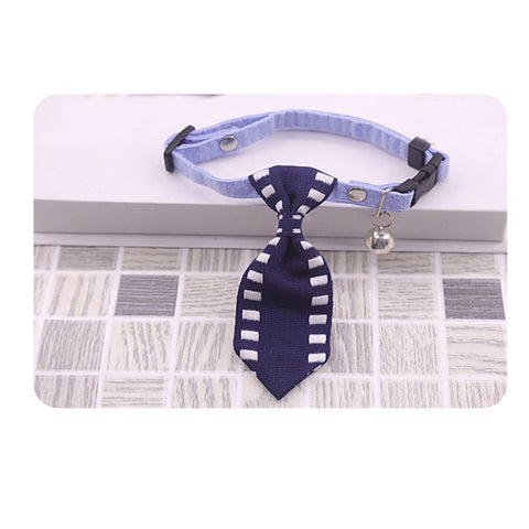 Pet Cat Dog Tie Collar Cotton Small Pet Puppy Kitten Necktie Adjustable Cute Pet Collar with Bow Tie Grooming Pet Accessories