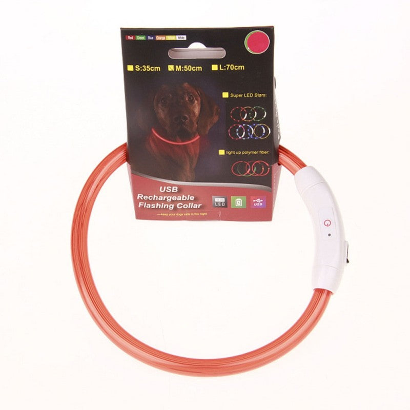 Pets LED Rechargeable Collar