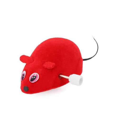 Cat Mouse Toy Clockwork Cat Pet Interactive Toy For Cat Kitten Plush Mouse Playing Funny Toys Cat Products 15 x 7 x 6 cm
