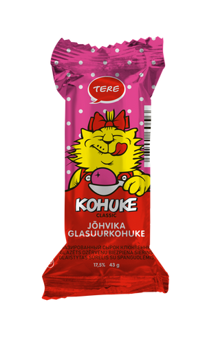 """Kohuke"" Classic glazed curd snack with cranberry   43g x10"