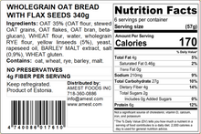 Load image into Gallery viewer, Wholegrain Oat Crust Bread 340g (6x57g)/12oz(6x2oz)