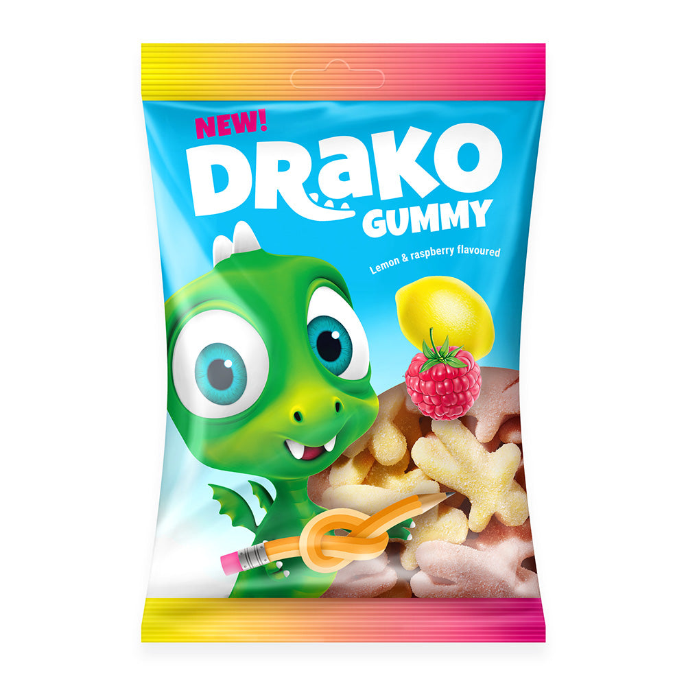NEW!!!   DRAKO-Dracily sour gummy candies
