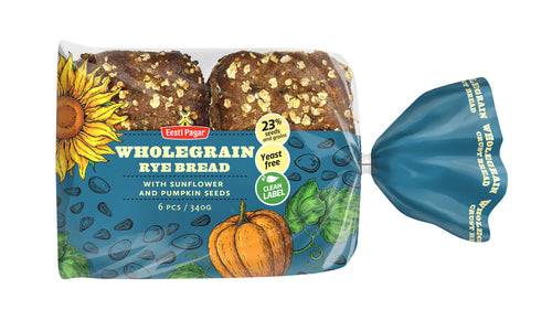 Wholegrain Rye Bread with sunflower seeds and pumpkin seeds 340g (6x57g)/12oz(6x2oz)