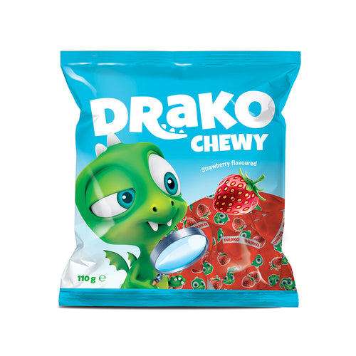 NEW!!!   Drako strawberry-flavoured chewing candy 110g