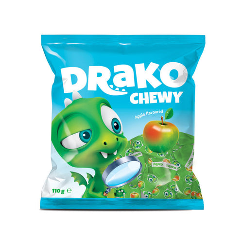 NEW!!!   DRAKO-Dracist apple-flavoured chewing candy 110g