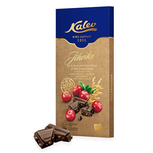 Kalev dark chocolate with cranberry and oats