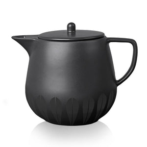 Lotus I Teapot Black