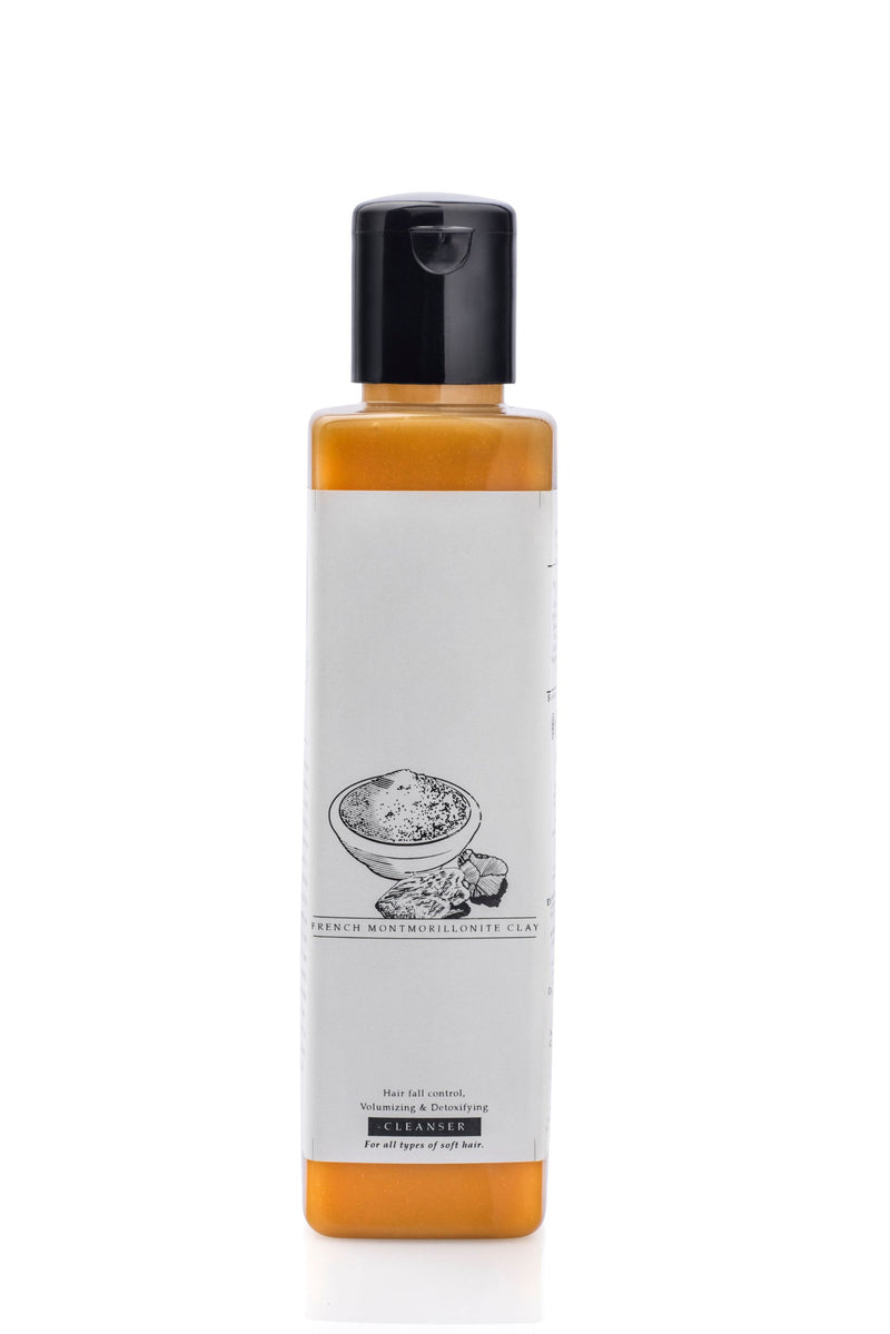 French Montmorillonite Clay Hair Fall Control, Volumising & Detoxifying Cleanser For Straight To Wavy Hair