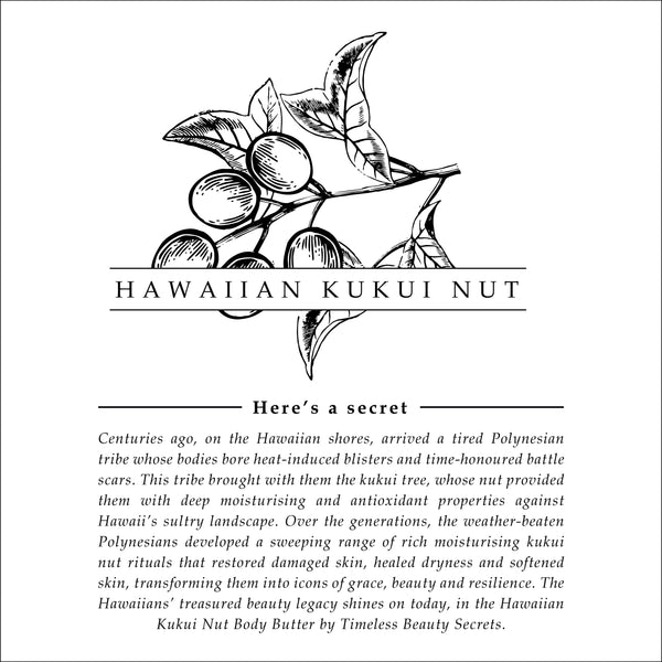 Hawaiian Kukui Nut Deeply Nourishing Salvation Body Butter For Dry Skin