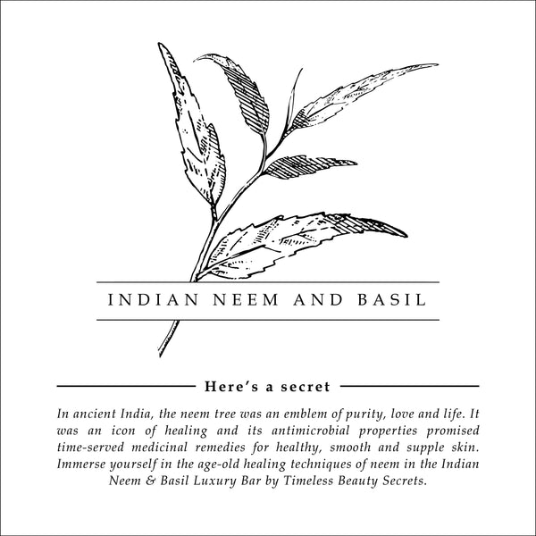 Indian Neem And Basil Anti-Microbial Harmony Butter Bar For Bacterial Protection