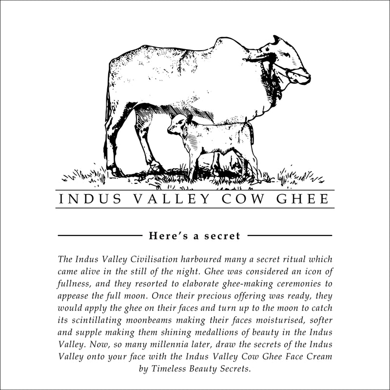 Indus Valley Cow Ghee Unscented Day & Night Resurrection Face Cream For Tender Skin