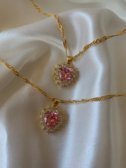 Pink Magic Heart Necklace (M)