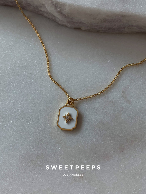 Stardust White Pendant Necklace (SD)
