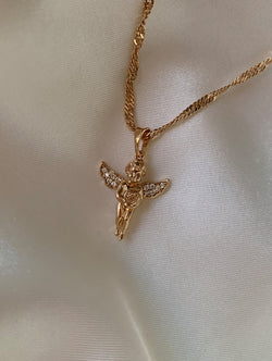 Baby Angel Pendant Necklace (P)