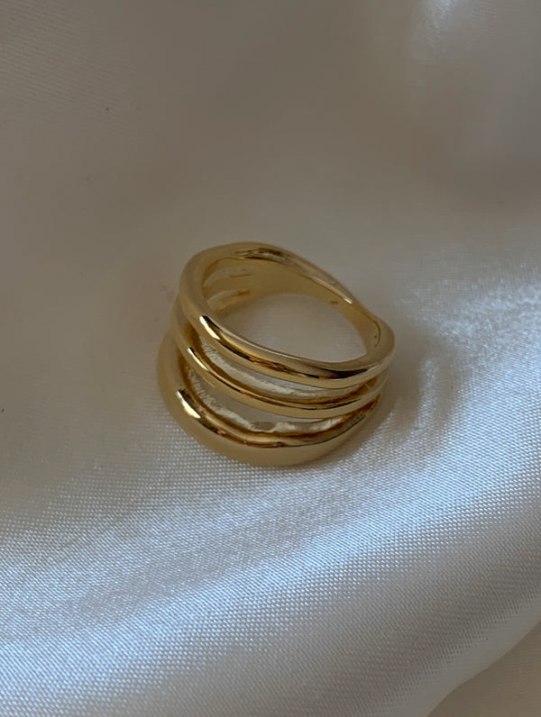 Layered Classic Gold Ring