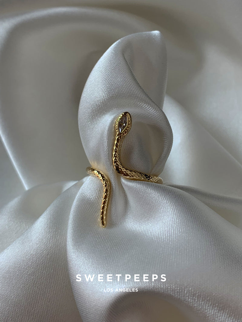 Classic Gold Snake Ring