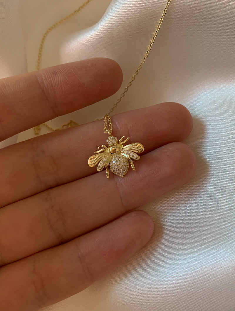 Sterling Silver Bee Necklace (SB)