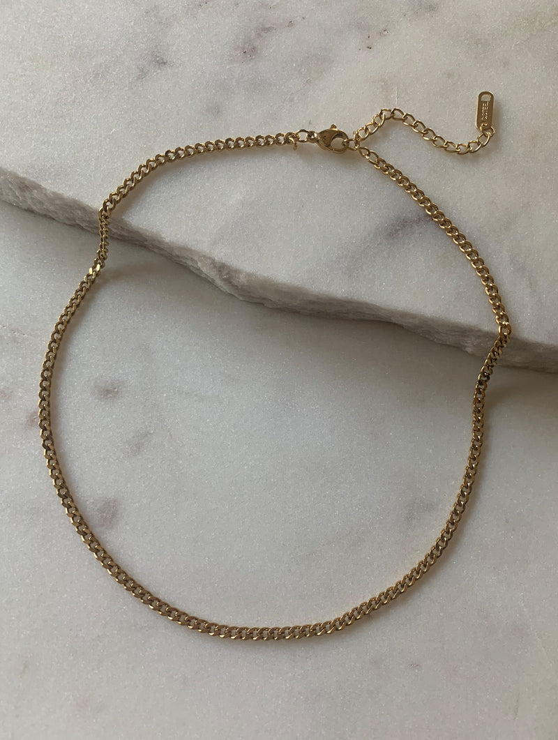Thin Cuban Chain Choker