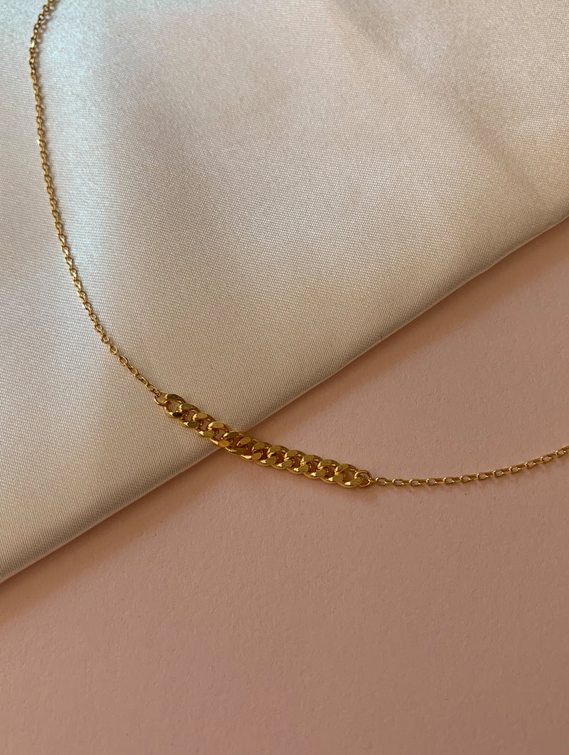 18K Gold Dipped Chain Link Necklace