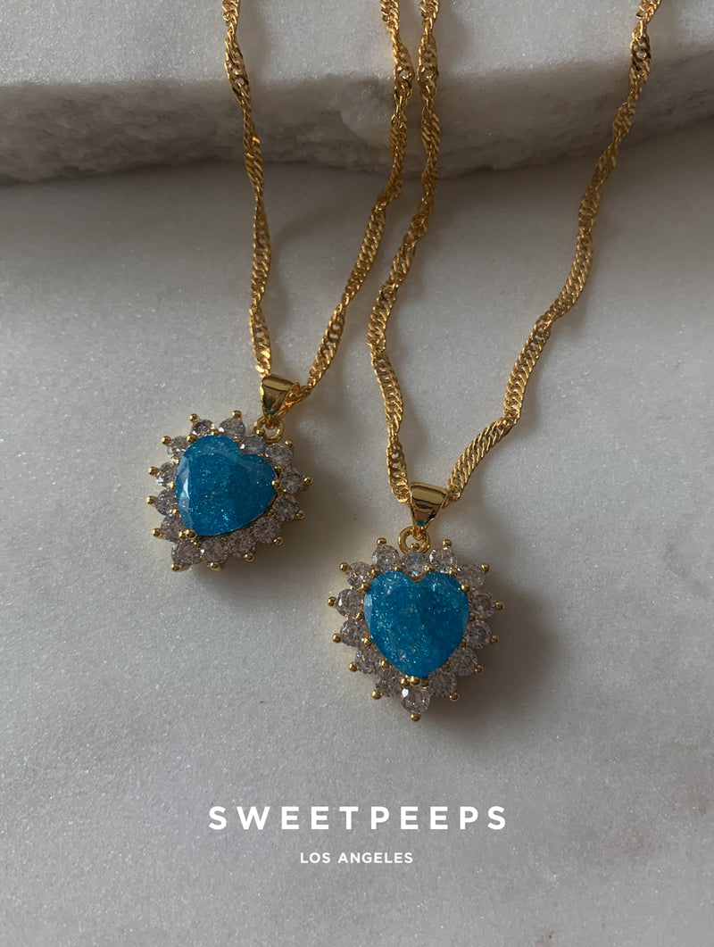 Blue Royal Heart Necklace