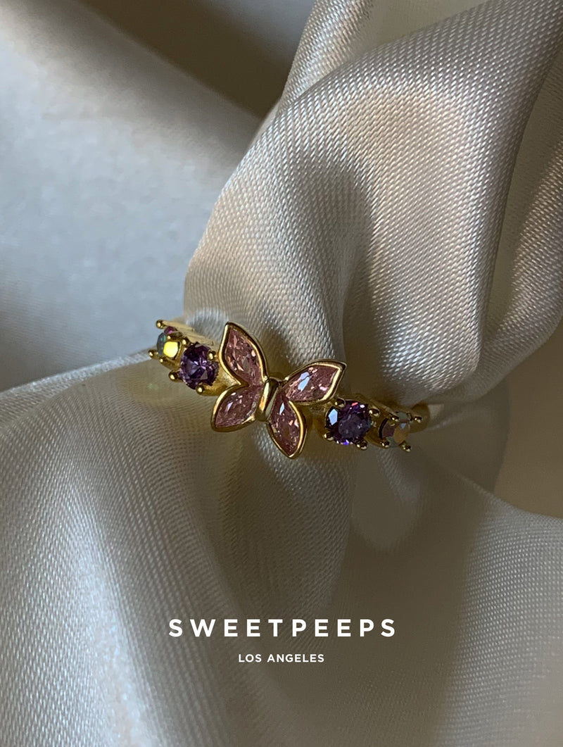 Bella Butterfly Gem Ring