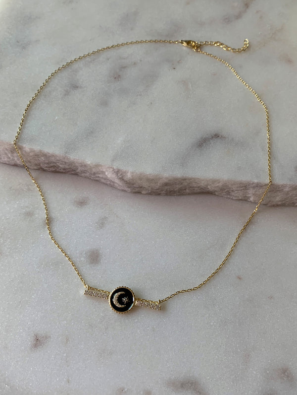 Sterling Silver Celestial Bar Necklace