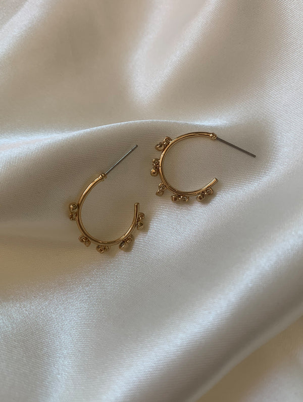 Diamond Fringe Hoops