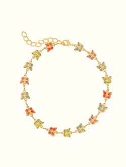 Colorful Butterfly Gem Anklet