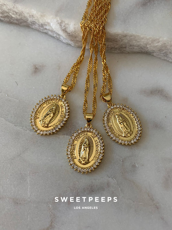 18K Gold Filled Saint Mary Necklace