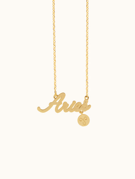 Cursive Horoscope Necklace