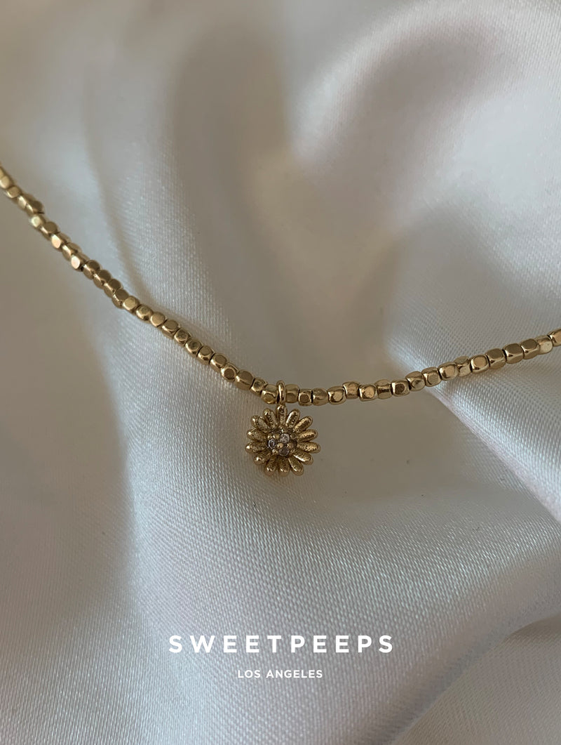 Sunflower Beaded Choker