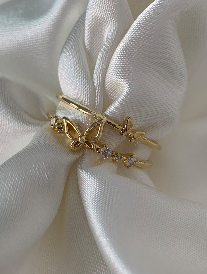 Dainty Butterfly Ring