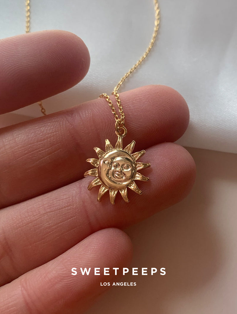 Sun Kissed Moon Necklace (D3)