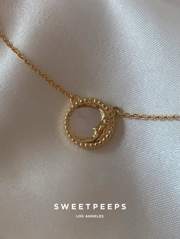 Pearl Moon Necklace (PM)