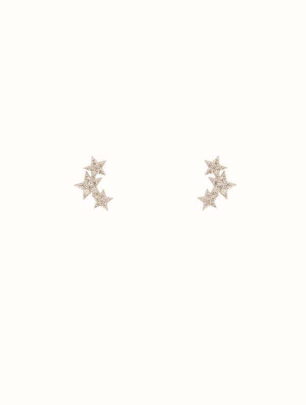 925 Sterling Silver Star Cluster Studs